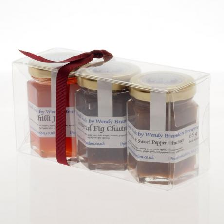 3 x (65g) chutneys - acetate pack