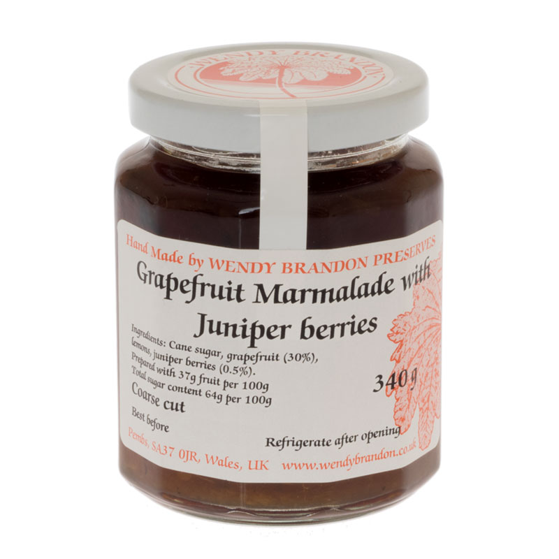 Home Red Label Grapefruit Marmalade with Juniper berries (340g)