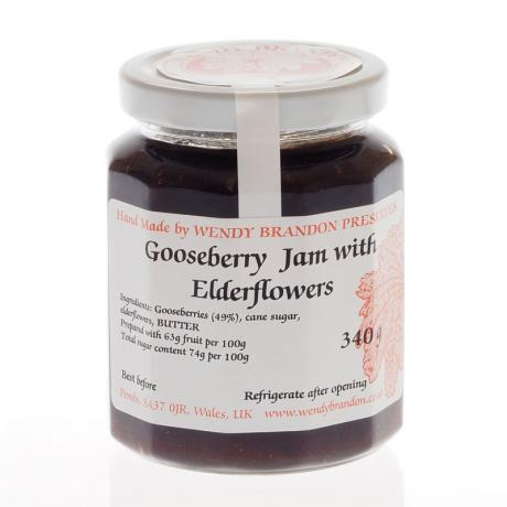 Gooseberry Jam with Elderflowers 340g